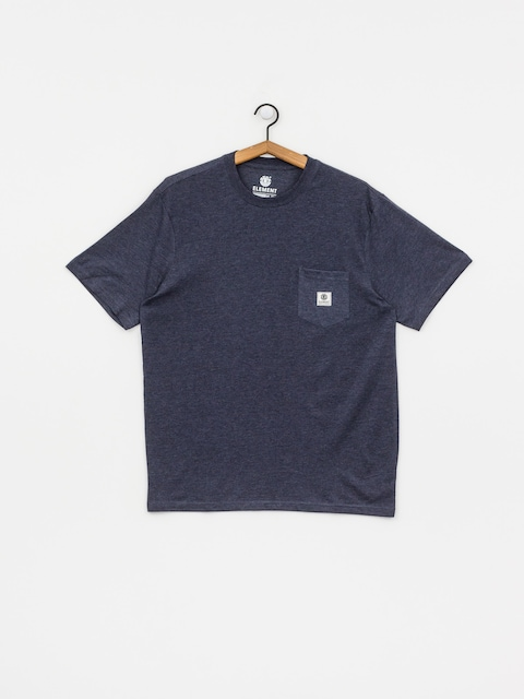 Tričko Element Basic Pocket Label (indigo heather)