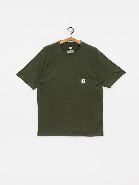 Tričko Element Basic Pocket Label (olive drab)