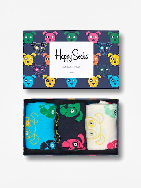 Ponožky Happy Socks Giftbox Dog (white/navy/blue)