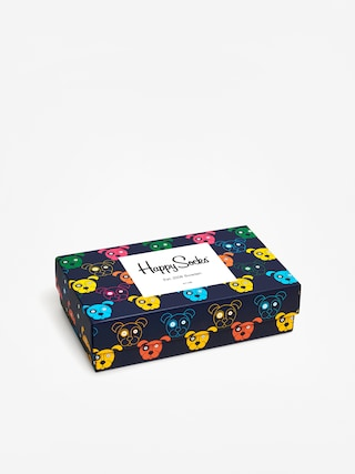Ponožky Happy Socks Giftbox Dog (white/navy/blue)