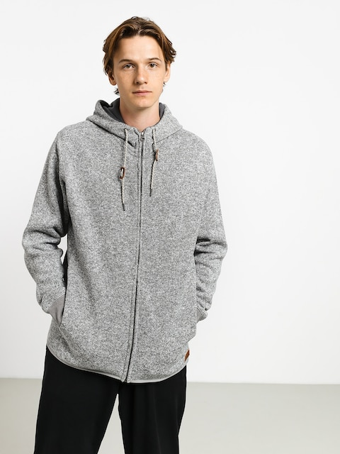 Mikina s kapucňou Quiksilver Keller ZHD (medium grey heather)