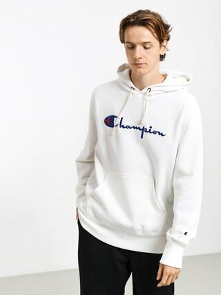 Mikina s kapucu0148ou Champion Premium Reverse Weave Hooded Big Logo HD (wht)