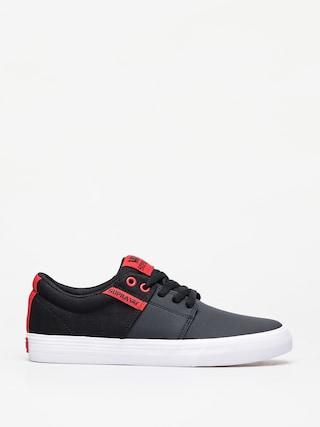 Topu00e1nky Supra Stacks Vulc II (black/risk red white)