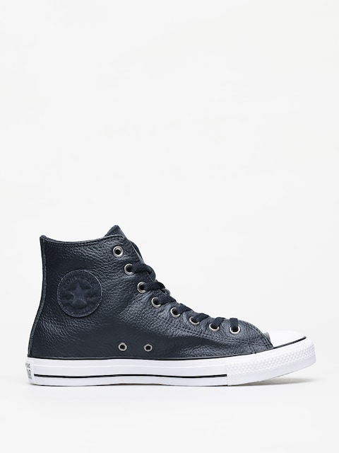 Tenisky Converse Chuck Taylor All Star Hi Leather (dark obsidian/white/black)
