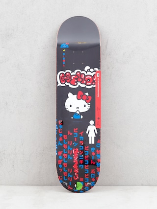 Doska Girl Skateboard Biebel Hello Kitty (black)