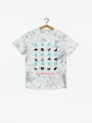 Tričko Diamond Supply Co. Zodiac Crystal Wash (grey)