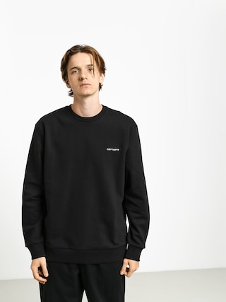 Mikina Carhartt WIP Script Embroidery (black/white)