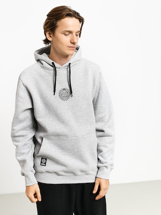 Mikina s kapucňou MassDnm Base Small Logo HD (light heather grey)
