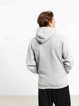 Mikina s kapucňou MassDnm Base Small Logo HD (light heather grey)