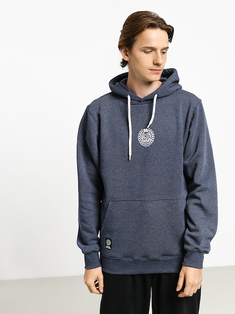 Mikina s kapucňou MassDnm Base Small Logo HD (heather navy)