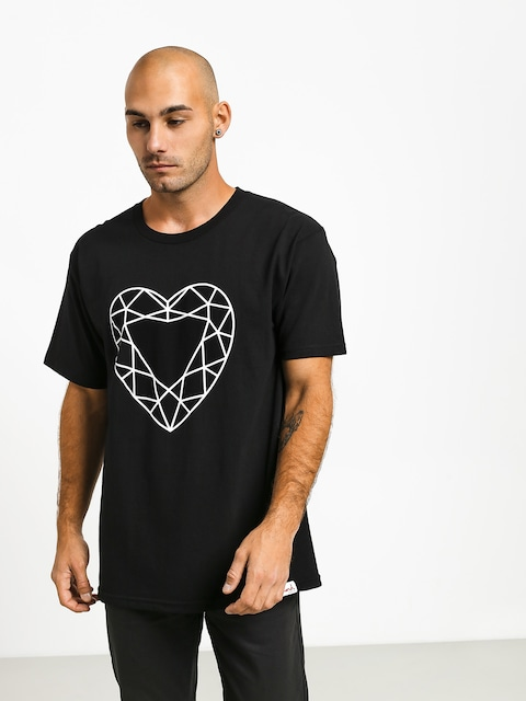 Tričko Diamond Supply Co. Heart Cut (black)