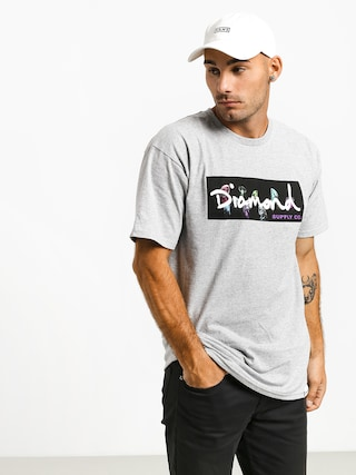 Triu010dko Diamond Supply Co. Color Box Logo (heather grey)