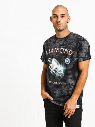 Tričko Diamond Supply Co. World Is Yours Crystal Wash (black)