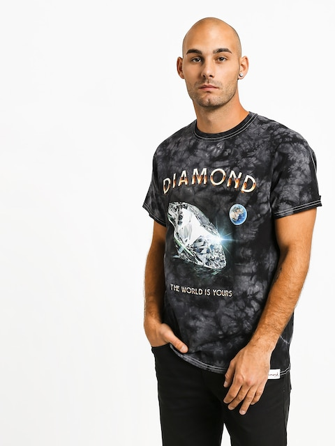 Tričko Diamond Supply Co. World Is Yours Crystal Wash