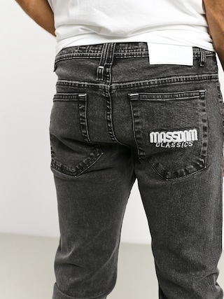 Nohavice MassDnm Classics Jeans Straight Fit (black stone washed)