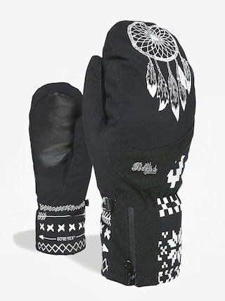 Rukavice Level Bliss Emerald Mitt Gore Tex Wmn (black white)