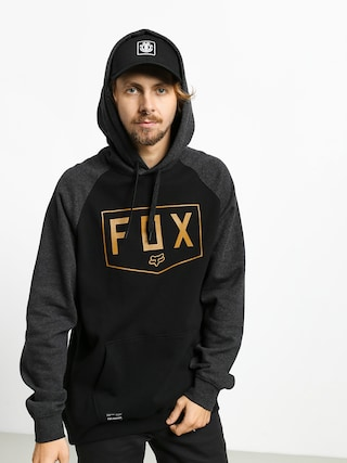 Mikina s kapucňou Fox Shield Raglan HD (blk)