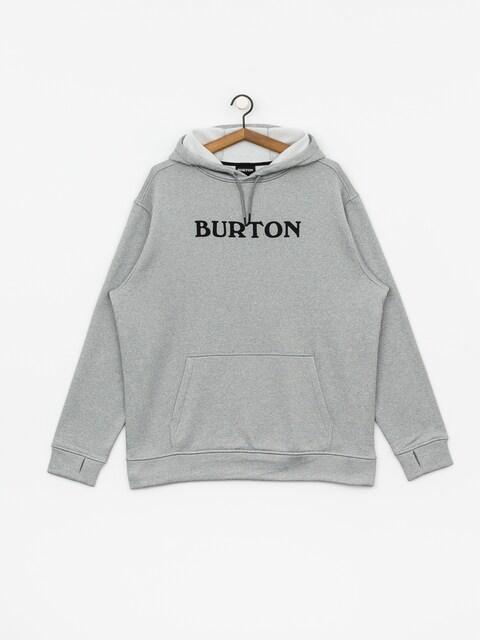Mikina s kapucňou Burton Oak HD (horiz logo gray htr)