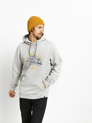 Mikina s kapucu0148ou Quiksilver Big Logo Snow HD (light grey heather)