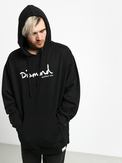 Mikina s kapucňou Diamond Supply Co. Shimmer Og Scrpit HD (black)