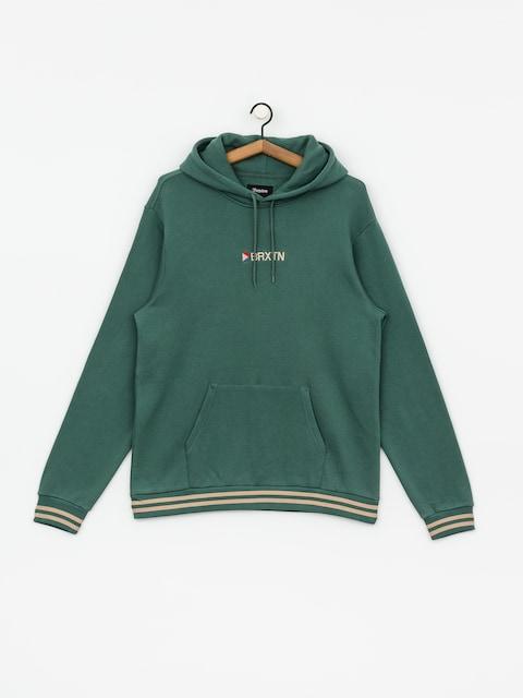 Mikina s kapucňou Brixton Stowell IV Intl HD (emerald)