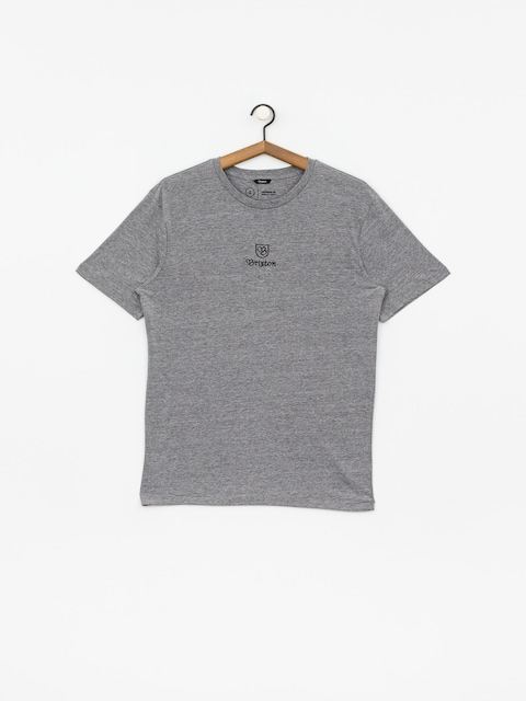 Tričko Brixton Main Label II Prt (heather grey)
