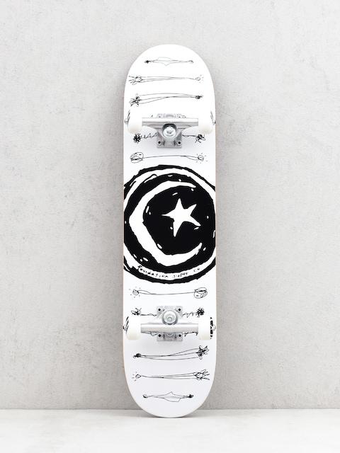 Skateboard Foundation Star And Moon Scribb (white/black)