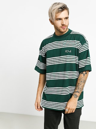 Tričko Polar Skate Striped Surf (dark green)