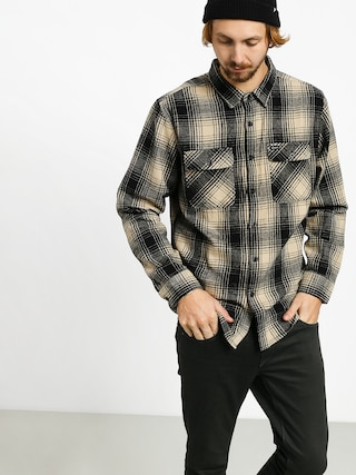 Kou0161eu013ea Brixton Bowery Flannel Ls (black/bone)