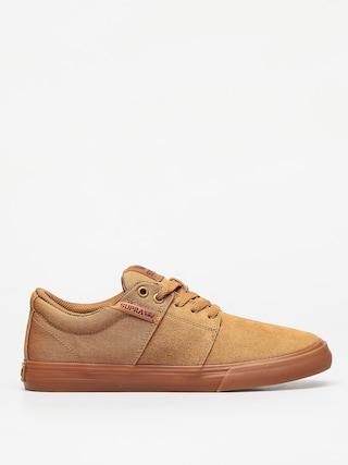 Topu00e1nky Supra Stacks Vulc II (tan/brown lt gum)