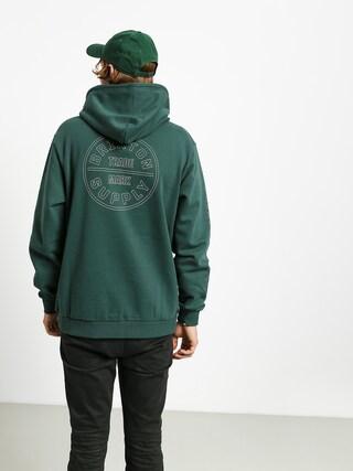 Mikina s kapucu0148ou Brixton Oath IV Intl HD (emerald)