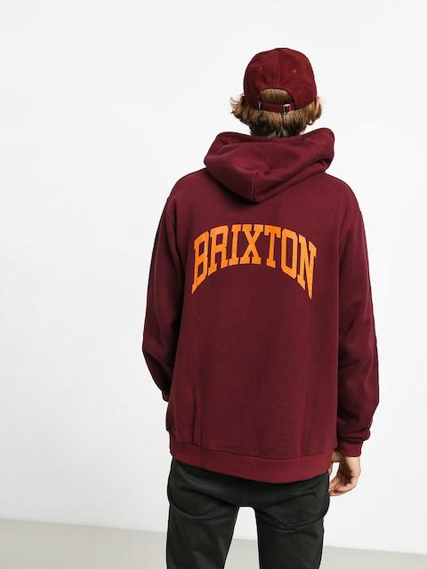 Mikina s kapucňou Brixton Forte V Intl HD (maroon)