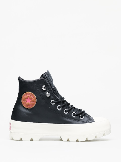 Topánky Converse Chuck Taylor All Star Hi Lugged Winter Wmn (black/mod pink)