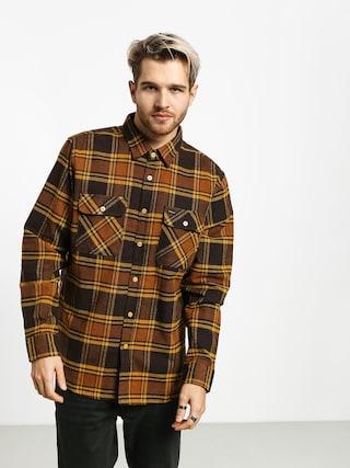 Košeľa Brixton Bowery Flannel Ls (brown/gold)
