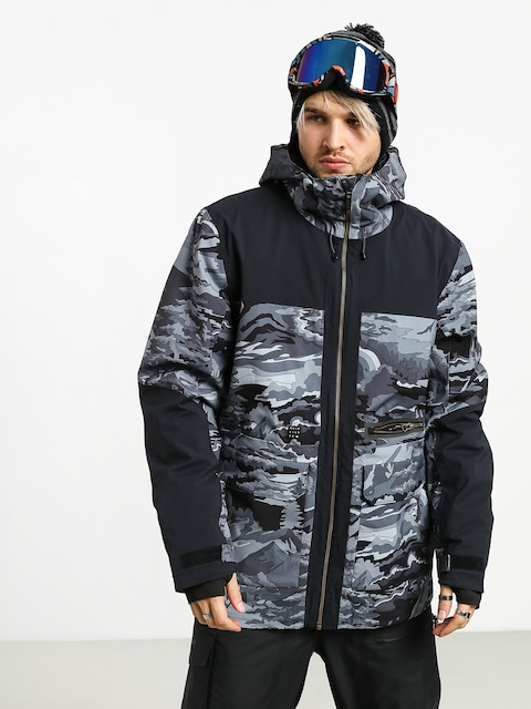 Snowboardová bunda Quiksilver Arrow Wood (black snowscene)