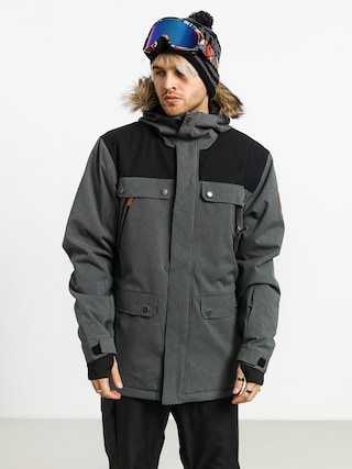 Snowboardovu00e1 bunda Quiksilver Selector (black heather)