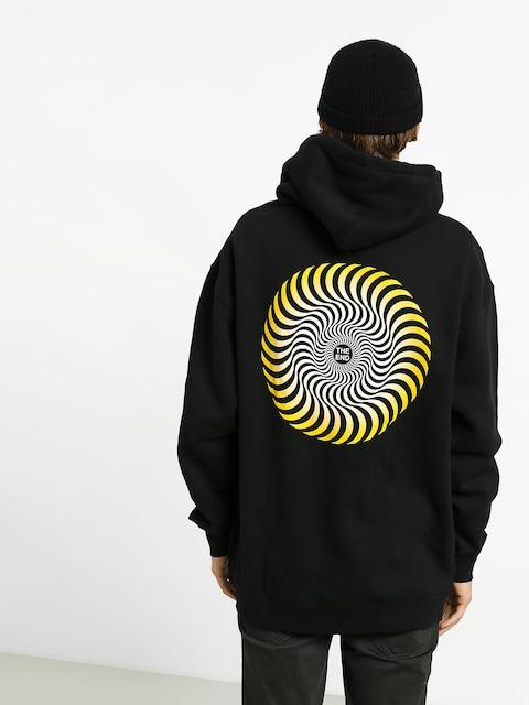 Mikina s kapucňou Spitfire Classic Swirl Fade HD (black)