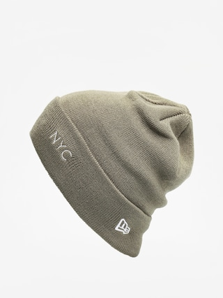 u010ciapka New Era Nyc Cuff Knit (olive/optic white)