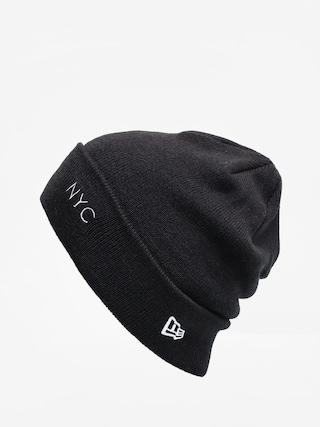 Čiapka New Era Nyc Cuff Knit (black/optic white)