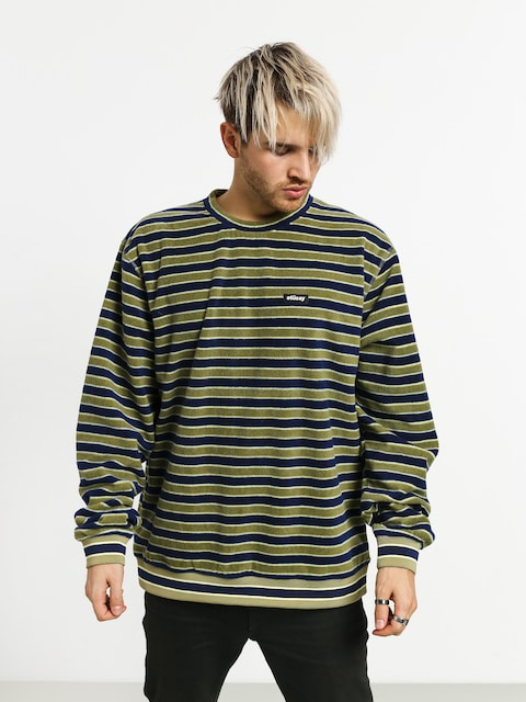 Mikina Stussy Striped (olive)