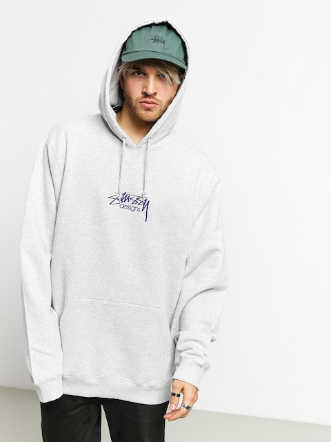 Mikina s kapucňou Stussy Designs App HD (ash heather)