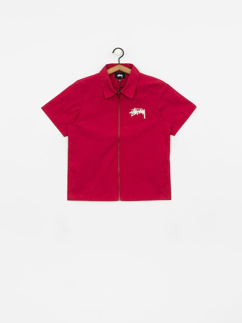 Košeľa Stussy League Zip Wmn (wine)