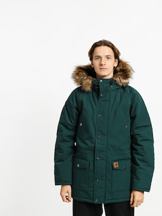Bunda Carhartt WIP Trapper Parka (dark fir/black)
