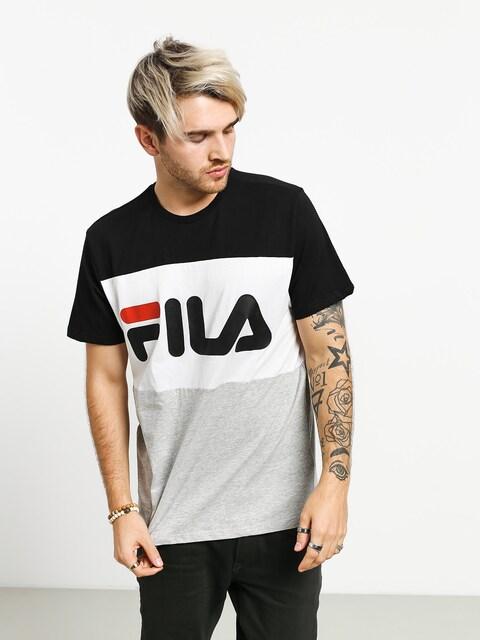 Tričko Fila Day (black/light grey mel/bright white)