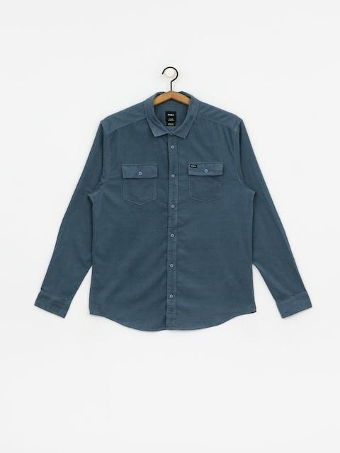 Košeľa RVCA Freeman Cord Ls (china blue)