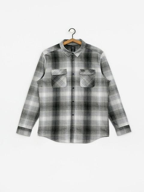 Košeľa RVCA Muir Flannel Ls (black/white)