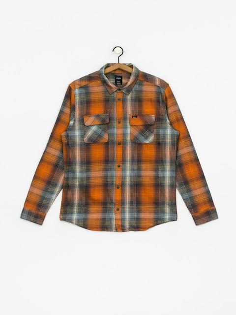Košeľa RVCA Muir Flannel Ls (rust orange)