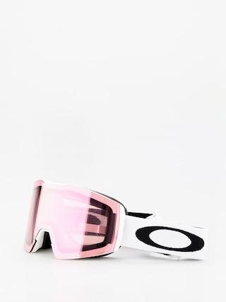 Okuliare na snowboard Oakley Fall Line Xm (white/prizm snow hi pink iridium)