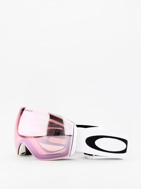 Okuliare na snowboard Oakley Flight Deck (matte white/prizm hi pink iridium)