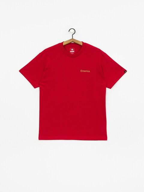 Tričko Emerica Pure Triangle (cardinal)